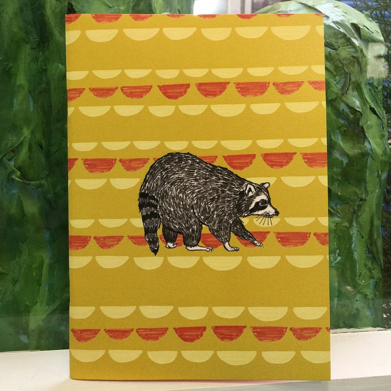Raccoon color inside page notebook