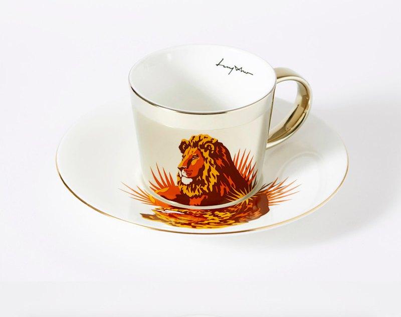 Luycho 鏡面倒影杯組 咖啡杯 _ 獅子