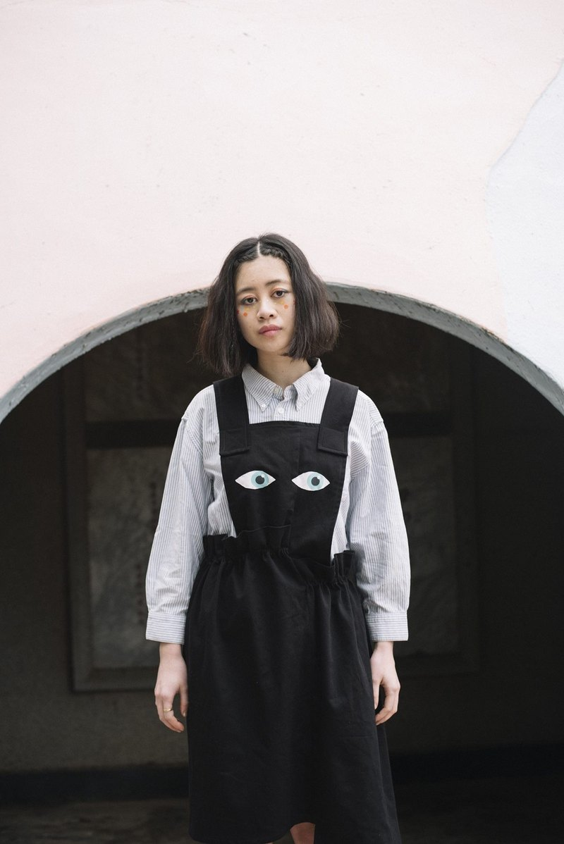YML guard asymmetrical black eye length Dress