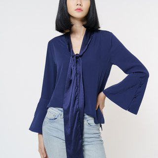 The Elle Navy Blouse