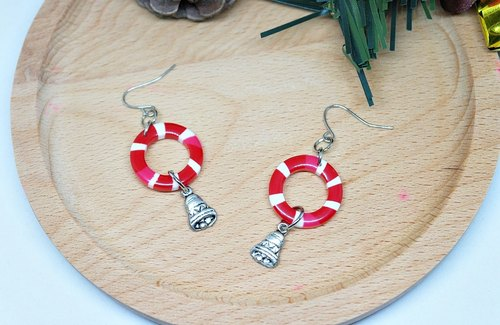 Alloy bell rings * _ * hook earrings ➪ Limited X1 # # # exchange Christmas gifts #