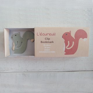 Paper clip-squirrel-environmental paper bookmark