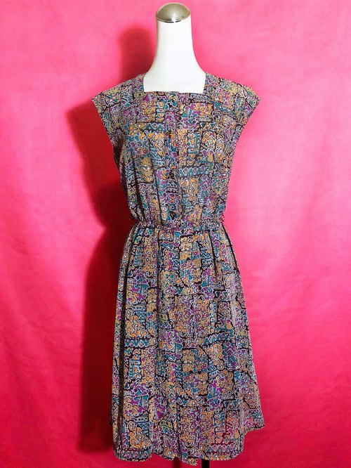 Totem sleeveless vintage dress / brought back to VINTAGE abroad