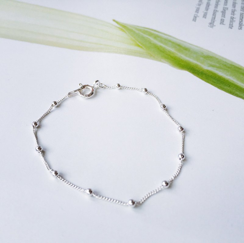 Elegant and versatile in 925 sterling silver [small silver beads temperament bracelet]
