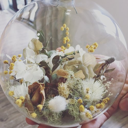 │Floral Living Flower │ Dry flower and no withered glass ball Eternal life wedding home furnishings Mother's Day gift