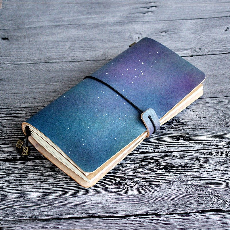 Birthday Gift Company Group Custom Graduation Gift Rugao Star Series Standard Edition Hand-dyed Handbook Leather Notebook Diary TN Travel Notebook Notepad 22*12cm Lovers Gifts Birthday Gift