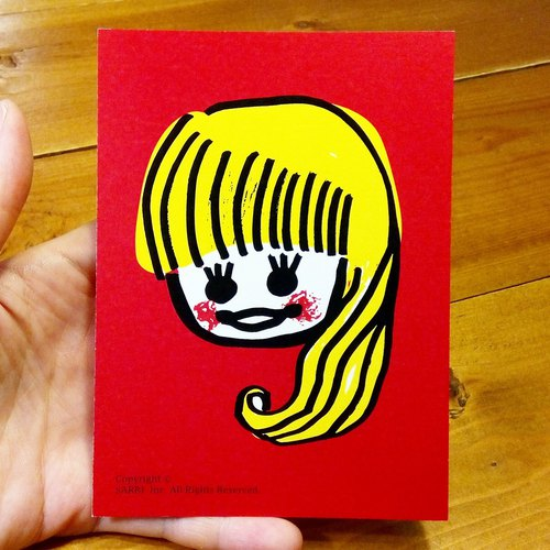 Daughter (can make A3 size posters) Birthday Card Design Coloring Illustrator Picture Card Universal Card Art Love Special Funny Strange Character Strange Cute Taiwan Playable