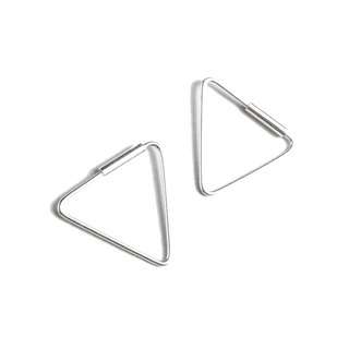 Simple Triangle sterling silver earrings (Medium)