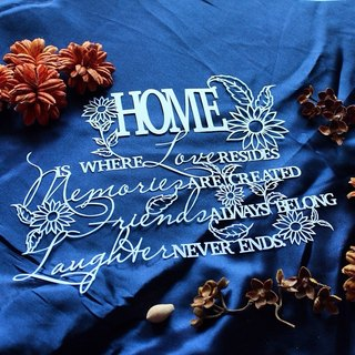 Custom HOME QUOTE HOUSEWARMING GIFT Handmade Paper Cutting