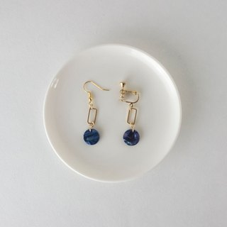 Circledot late night blue earrings earrings earrings earrings