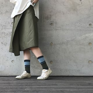 靴下ジュピター / irregular / socks / stripes / green