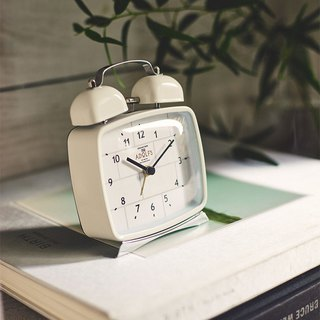 Lclif- simple brick clock alarm clock (white)