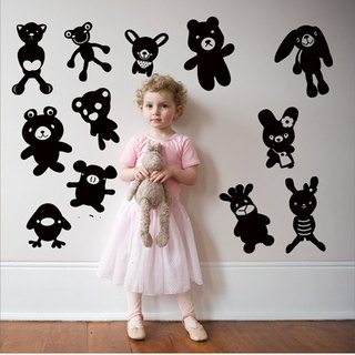 Smart Design Creative incognito wall stickers animal doll ◆ 8 color options