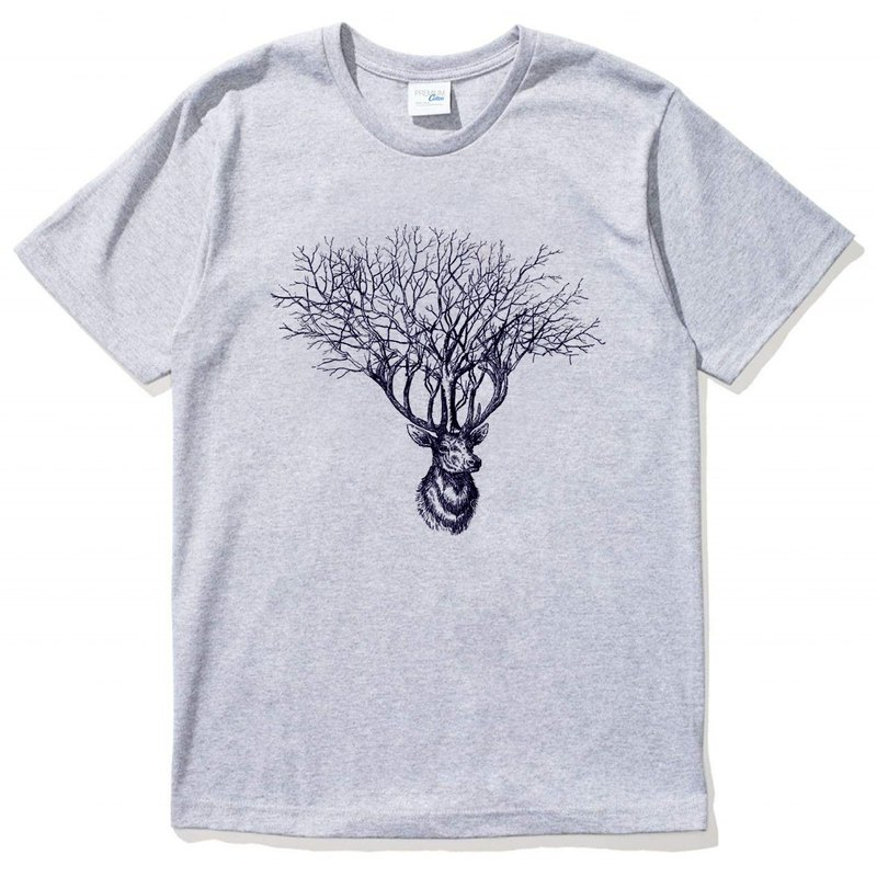 Deer Tree gray t shirt