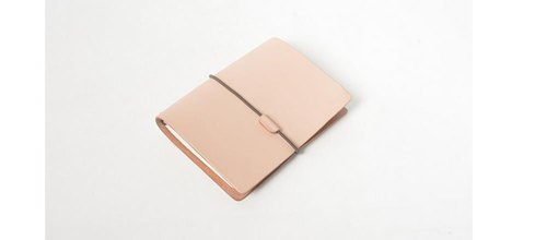 Custom Name Handmade Leather Notebook Rope Vegetable Wrap Leather Stationery Notepad Vintage Office Leather Book