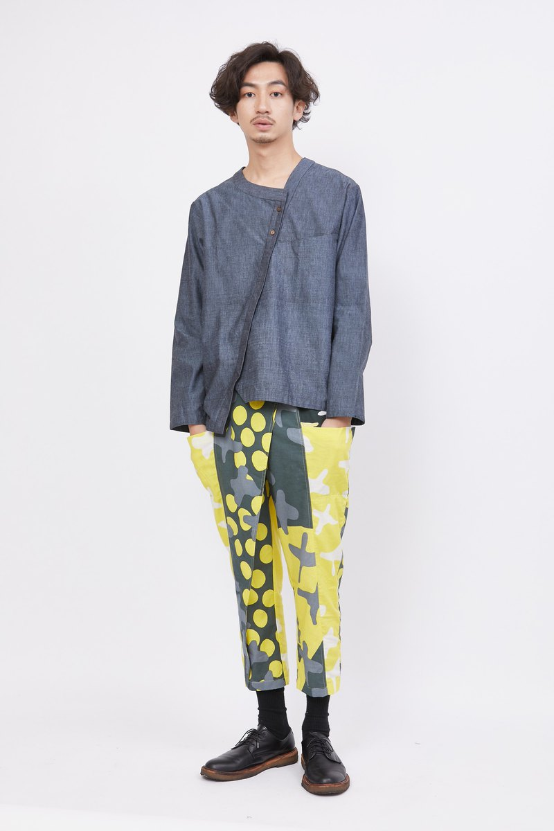 big pockets pants-yellow desert-fair trade