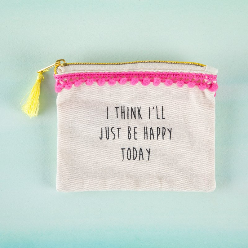 Text coin purse - Happy Today∣CPRS126