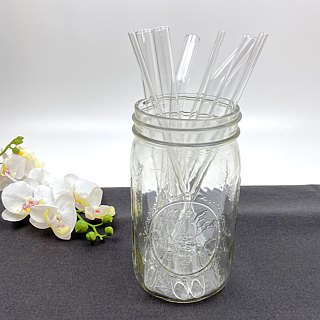 | •R• | Brand new | Eco-friendly oblique glass straw | Single | Transparent