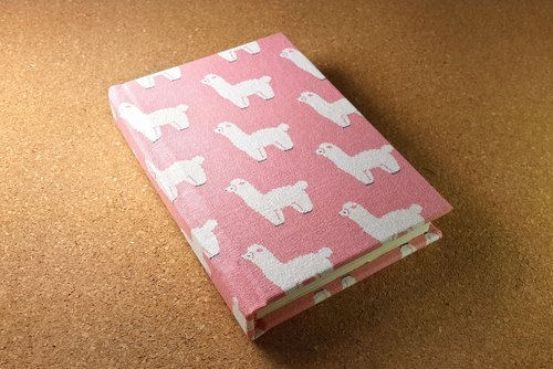 [Pink] IVxVI the world Llama series 4X6 inch hardcover with this manual