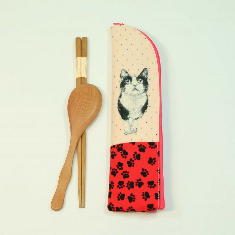 Embroidery Chopsticks Bag 07-Cat