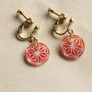 Ma の leaf - pin clip earrings