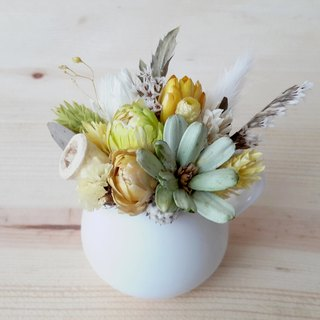 Fresh and dried flowers grassland small milk pot potted