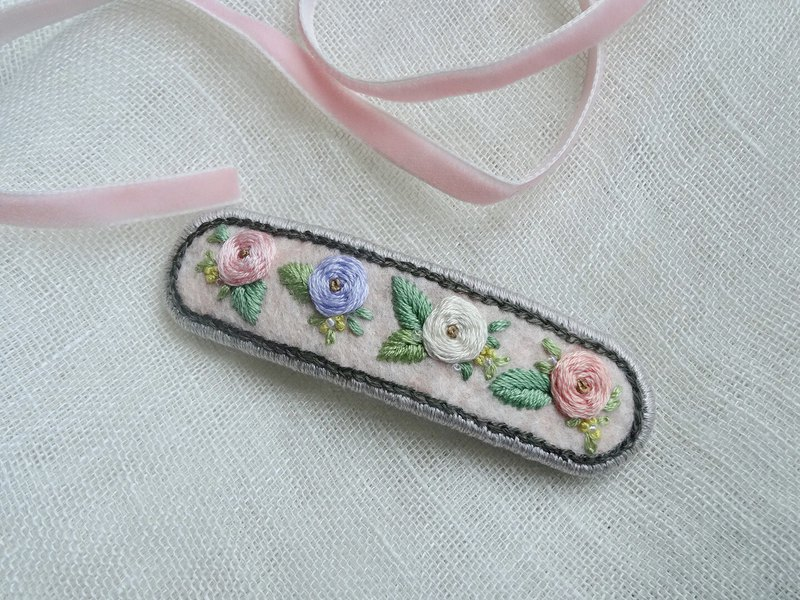 Embroidery Hair clip/Elegant