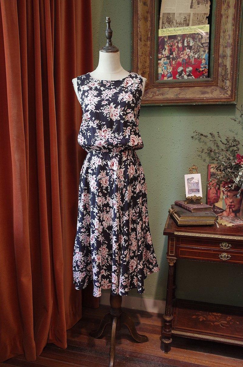 vintage dress美國制印花連衣裙古著洋裝