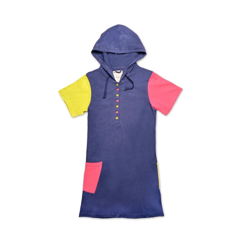 Colorful Patchwork Patchwork Long Patch Tee-Violet Violet