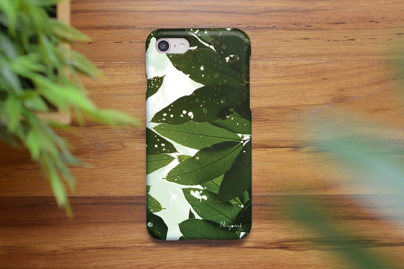40-3 natural green leafs iphone caseสำหรับ iphone6,7,8, iphone xs, iphone xs max