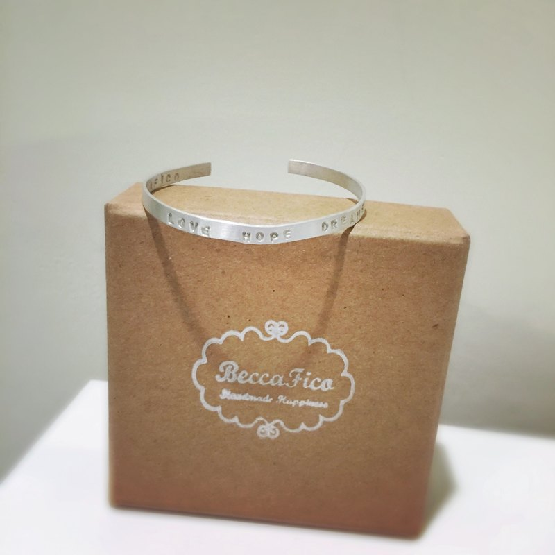 LOVE HOPE DREAMS Silver Wristband