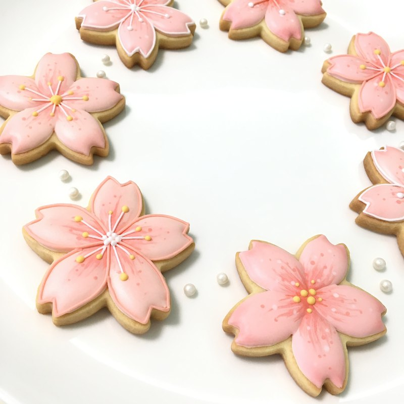 Cherry Blossom Cookies 10 Pieces (Basic/Closed)