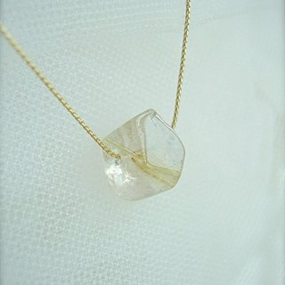 Rutile quartz large one-piece necklace / 1.5 cm