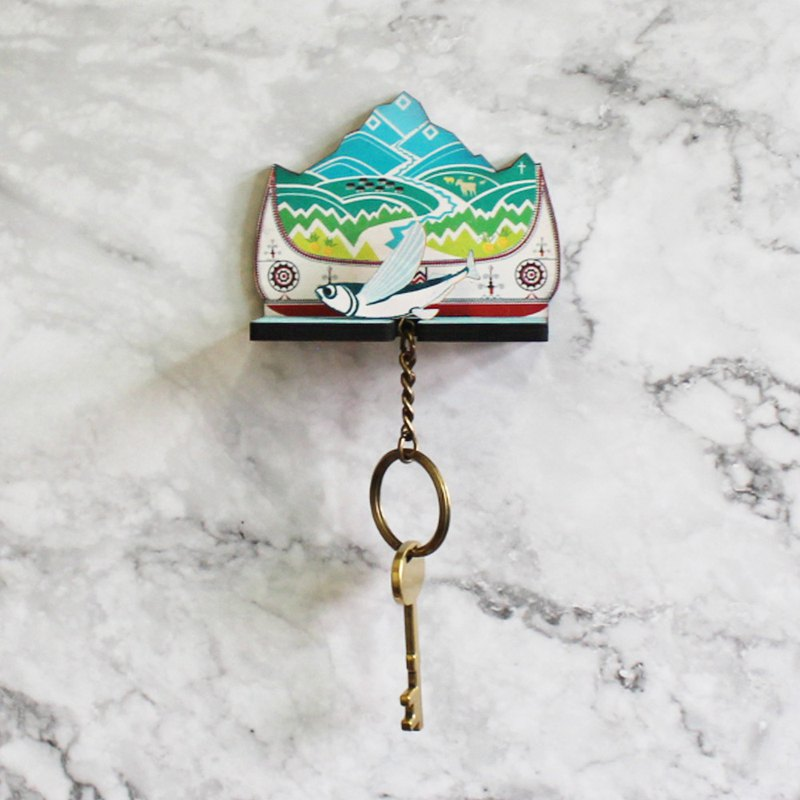 Lanyu flying fish home key ring - key ring / wall hanging / wall decoration