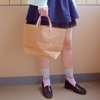 Tote Bag Medium : Tyvek and Kraft paper bag