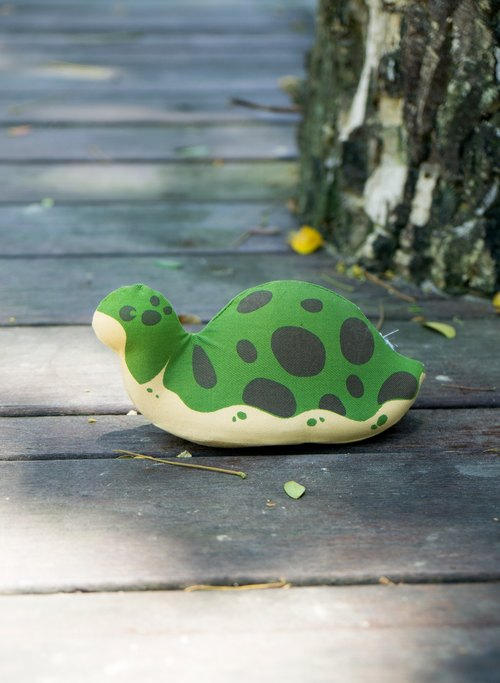 US Rubbabu Washable Natural Latex Toys - Turtle - Biodegradable Infant Green Toys