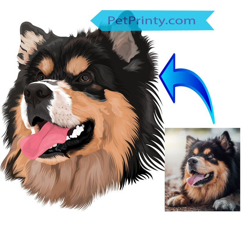 Custom Pet Portrait Digital File | Pet Portrait Illustration | Digital Pet