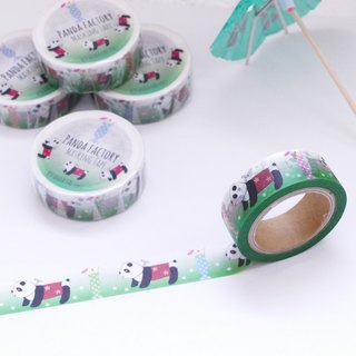 Masking tape Panda car and cream soda
