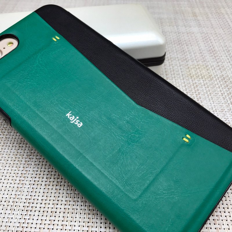 Side card pocket single cover mobile phone protective cover green