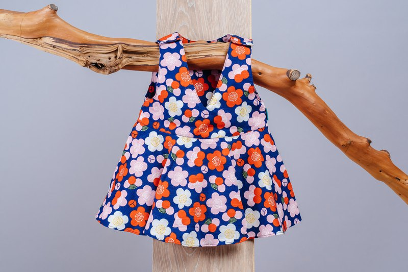 Deep V Sling Dress - Mei の flower child newborn child children hand-made