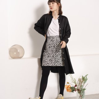 Canvas Skirt - Snow Leopard