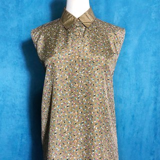 Ice cream textured short-sleeved vintage shirt / Bring back VINTAGE abroad