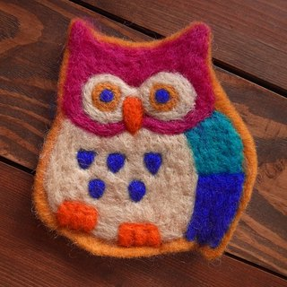 Cup coasters Felt coasters Animal Owl