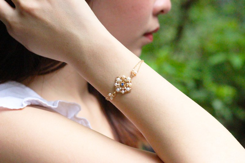 [Retro small square] bracelet handmade winding 14k gold can be customized