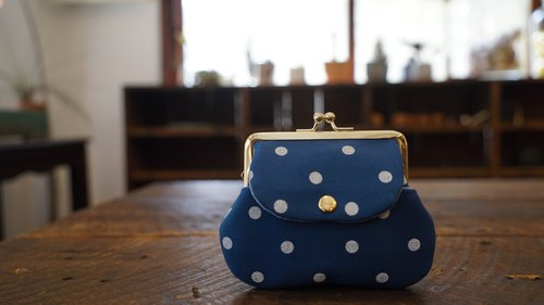 "Collection of old time ""glazed cyanine canvas little pocket bag"""