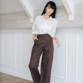 Wide leg pants in Chocolate