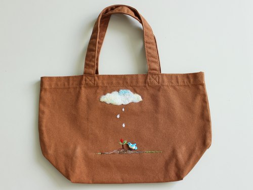 Rainy Day canvas bag - brown purse
