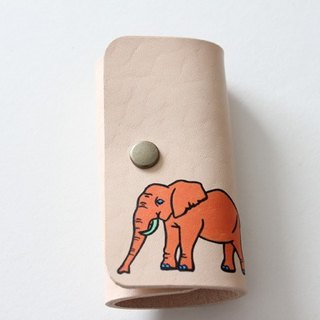 Key Case / Natural Orange Elephant