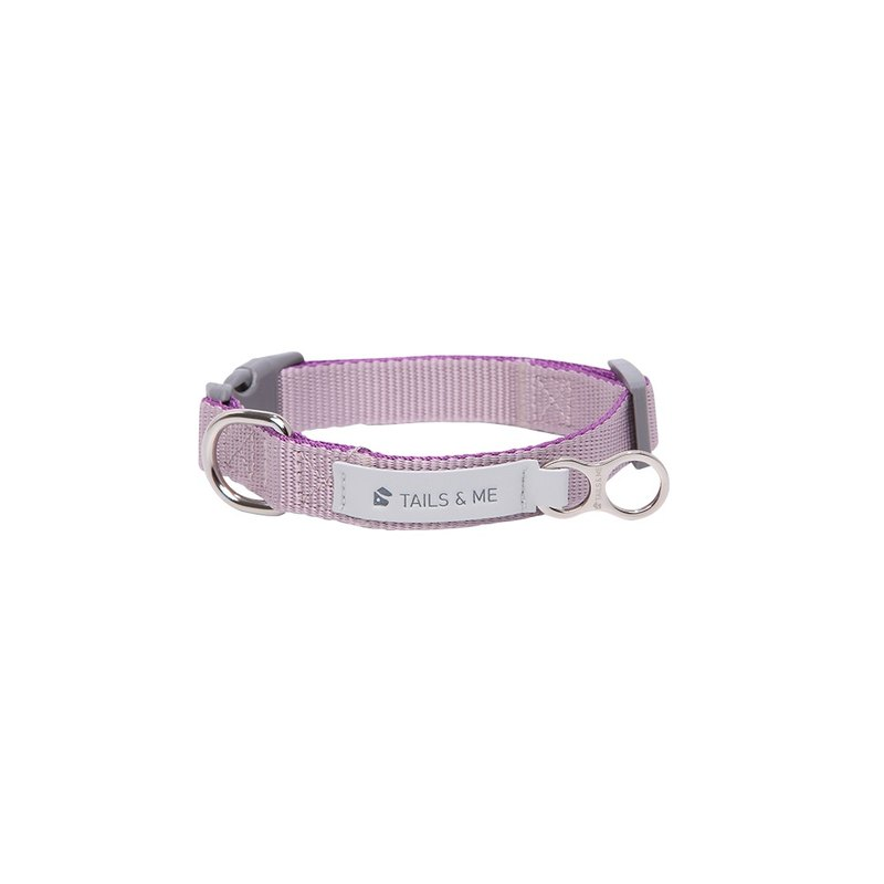 [Tail and me] Classic nylon belt collar dark purple / gray purple M