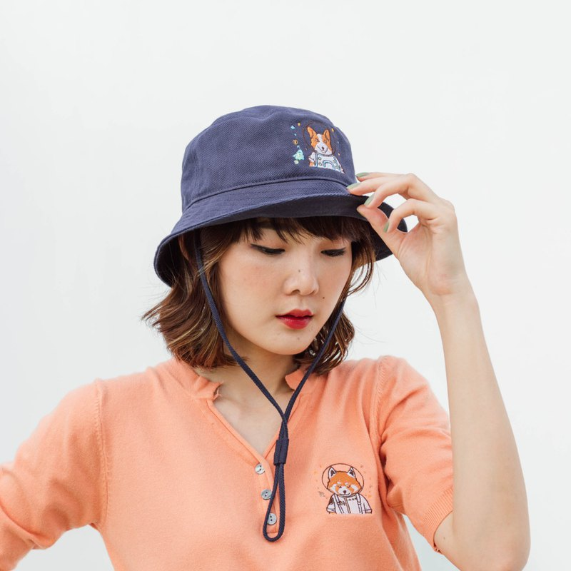 Bucket Hat (Colour : Navy Blue)
